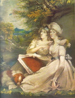 Daughters by John Hoppner for their father, Sir Thomas Frankland, 6th Baronet (1750-1831) from Thirkleby, Yorkshire